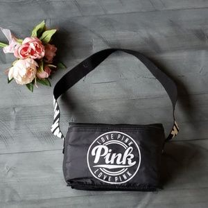 PINK black lunch bag